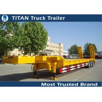 Heavy duty tri - axle 80 tons gooseneck low bed trailer for construction machinery