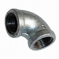 Cast Iron Elbow Pipe Fitting, Galvanized, with 1.6MPa Nominal Pressure Manufactures