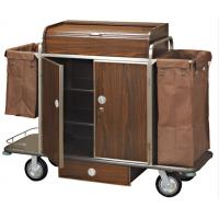 Brown Room Service Trolley For Hotel Manufactures