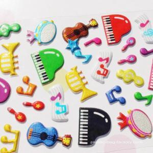 Glitter Plastic Custom Puffy Stickers Non-Toxic PVC Foam Stickers Manufactures