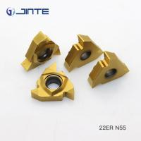 22IR N55 Internal Threading Inserts , Lathe Threading Tool Inserts ISO 9001 Approved Manufactures