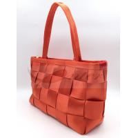 Quality Orange Webbing Travel Nylon Tote Bags Multi Function Big Volume 210D Lining for sale