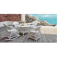White Rattan Wicker Outdoor Rattan Chairs With Table Set For Coffee / Reading