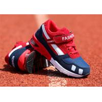 Suede Leather Kids Sports Shoes , Little Boys Running Shoes With Magic Strap Manufactures