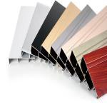 hot sale wood grain 6063 t5 aluminium hollow section aluminium square/ aluminium profile Manufactures