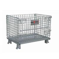 Collapsible Metal Mesh Containers Mobile Wire Mesh Stillage Wheels Optional Manufactures