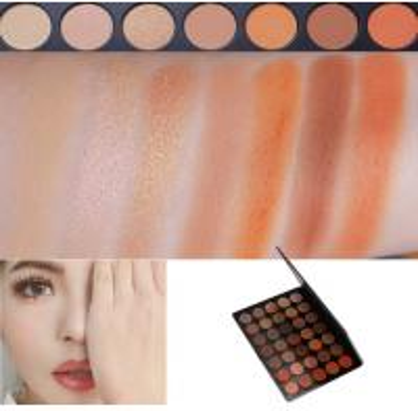 Quality Neutral Eye Makeup Eyeshadow High Pigment Autumn Orange Toned Eyeshadow Palette for sale