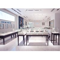 OEM Showroom Display Cases , Fashion Jewellery Shop Interior Design Plans Manufactures
