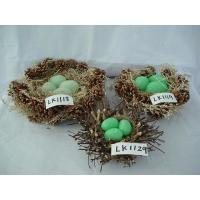 Handmade henhouse and eggs,,nature material, Easter Day gifts, holiday gifts, home decoration, garden ornament Manufactures