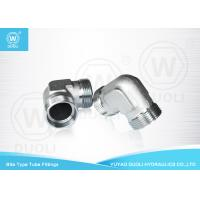 Carbon Steel Bite Type Hydraulic Hose Compression Fittings 90 Degree Elbow Manufactures