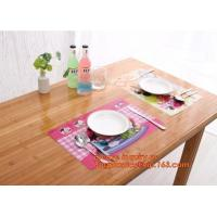 China Custom PVC Woven Decorative Table Mat Placemat,Dining Room Hot Food Woven Fabric Vinyl PVC Table Mat,placemats pvc dinin on sale