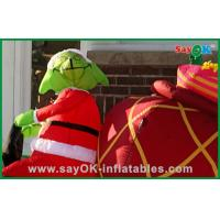 China Promotional Inflatable Christmas Decoration With A Dog , Oxford Cloth or PVC on sale