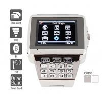 Premiere - Dual SIM Quadband Stainless Steel Cell Phone Watch (WiFi, JAVA, MP3 ) 218361 Manufactures