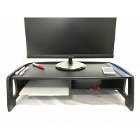 Quality 2 Tiers Computer Monitor Stand , Black Cutouts TV Riser ShelfSaving Space for sale