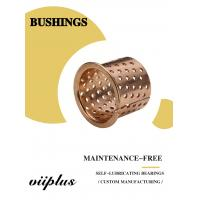 FB090 & 092 Tin Bronze Flange Slide Bearing Dimensional Tolerance Bronze Bushing CuSn8P (DIN 17662) DIN 1494 / ISO 3547 Manufactures