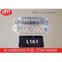 China Rectangle Aluminum Foil Food Containers , L161 Aluminium Foil For Food Packaging on sale