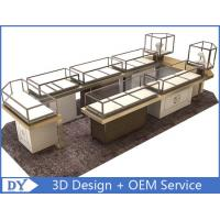 Custom Shopping Mall Jewelry Display Counter / Shop Display Cabinets Manufactures