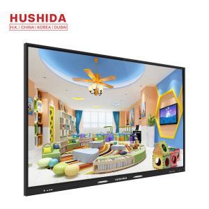 China HUSHIDA 65 inch Aluminum frame whiteboard interactive flat panel 4k led monitor touch screen on sale