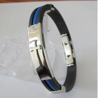 Costume Jewellery Friendship Rubber Mens Bracelets with Cross Design Manufactures