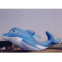 Ocean Park Cartoon Custom Designed Balloons Helium , Large Inflatable Dolphin Manufactures