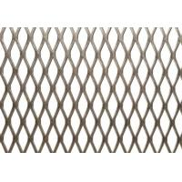 Fine Stainless Steel Expanded Mesh Fabric Diamond Hole Shape Customized Color Manufactures