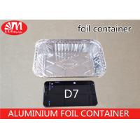D7 Disposable Tin Foil Trays , Aluminium Food Packaging Containers 700ml Volume Manufactures