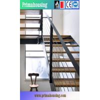 Quality High Quality Solid Wood Staircase Price With Wrought Iron Balustrade for sale