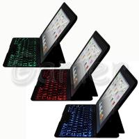 China Ultrathin Backlight Backlit Bluetooth Keyboard Leather Case For Apple iPad 2 3 4 on sale