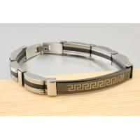 Fashion mens jewelry men bracelet stainless steel plus Silicon bracelets wholesale jewelry Manufactures