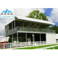 China Aluminum Frame Outdoor Party Exhibition Double Decker Tent Cube Structure With White PVC Roof Cover on sale