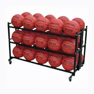 3 Tier Basketball Metal Display Steel Double 3 Tier Basketball Storage Metal Display Rack For 30 Balls Manufactures