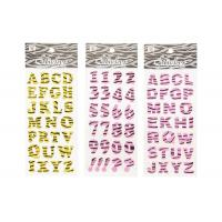 Glitter Letter Alphabet Kids Sticker Printing Surface High Glossy Manufactures