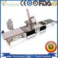 Loading and unloading wood CNC router machine for furniture producing line. THREECNC Manufactures