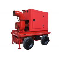 Irrigation Mobile Diesel Water Pump With 1400 m3/H Flow , 10m Lift Head Manufactures
