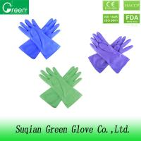 Paste resin Pink household cleaning gloves / ladies gardening gloves Manufactures