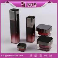 China SRS free sample acrylic square cream jar and plastic lotion bottle set cosmetic packaging on sale