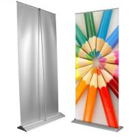 Custom Large Retractable Display Banners , Advertising Trade Show Roll Up Banners Stand Manufactures