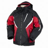 Ski Jacket with Rip-stop, Wind-proof, Waterproof and Breathable Features  Manufactures