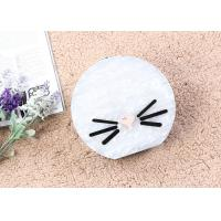 Buy cheap White Color Moon Shaped Ladies Evening Clutch Bags Customized Cute Face Printed from wholesalers