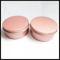 Pink Cosmetic Aluminum Jar 100g Metal Cans Lotion Cream Powder Can With Screw Lid Manufactures