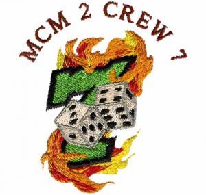 Custom Embroidery Digitizing MCM 2 CREW 7 Blending color WAC9C03 Manufactures