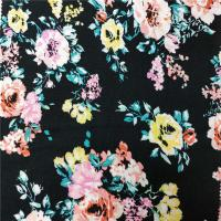 Environmental Printing Patterned Rayon Fabric , Soft Solid Rayon Fabric Manufactures