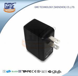 5V 1 Amp Power Adapter US Plug Black Mobile Phone Adaptor Low Ripple Manufactures