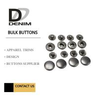 Anti Black Silver Clothing Snap Buttons , Bulk Replacement Snap Buttons Custom Manufactures