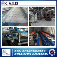 Cable Tray Production Line With Cable Tray Bending Machine Galvanized Steel Sheet Raw Material Manufactures