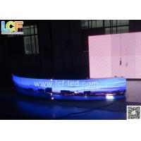 China P6 RGB Curve Led Display Light Weight Outdoor For Contrast Ratio 3000:1 on sale
