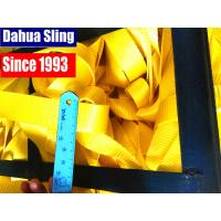 Yellow Polyester Webbing Roll For Transportation , 50mm Webbing Straps Manufactures
