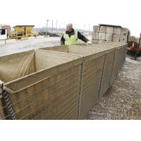 Welded Defensive Bastion Military Sand Wall Hesco Barriers For Flood Control Manufactures