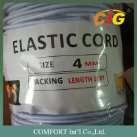 Garments Accessories 3mm , 4mm Thickness White And Black Elastic Tape For Package Tire Manufactures
