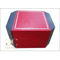 Quality Leatherette Paper Plastic Watch Box / Personalized Watch Box For Men for sale